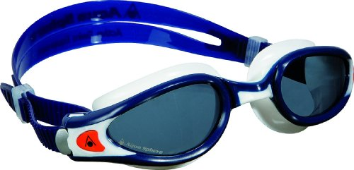 Aqua Sphere Kaiman Exo Swimming Goggles with Smoke Lens, Blue - Goggles With Swimming Lenses