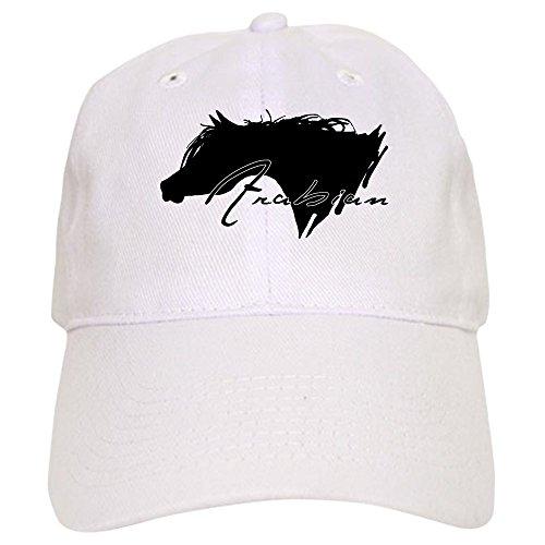 CafePress Arabian Horse Baseball Cap with Adjustable Closure, Unique Printed Baseball Hat White