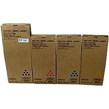 Genuine Ricoh Lanier Savin MP C6501/C7501/C9075/LD375C Toner Bundle Set BCYM 841357, 841358, 841359,841360 Sealed In Retail Packaging
