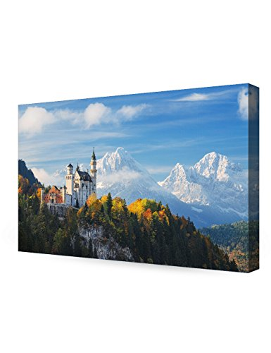 DECORARTS The Neuschwanstein Castle, Giclee Print on Canvas wall art for Home Decor. (Castle Canvas Art)