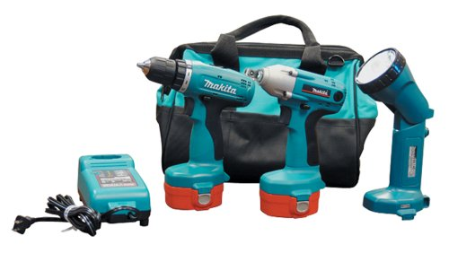 Makita 224517-1 14.4-Volt Ni-Cad Cordless 3-Tool Combo Kit, includes 1 2-Inch Impact Wrench, 3 8-Inch Drill, Flashlight, 2 Batteries, Charger, and Bag Discontinued by Manufacturer