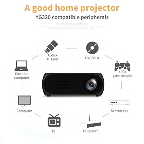 Loveje Mini HD Projector Video LED 1080P HDMI MHL Input Home Entertainment Cinema Pocket Projector for PC/TV/DVD/Movies/Games/Outdoor from Loveje
