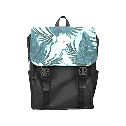 Fashion Flip Cover Notebook Calla White Floral Hand Drawn Romatic Print Laptop Backpack Travel Men Women Business Computer Backpack Oxford Fabric Vintage School Shoulder Bag (Calla White Blossom)