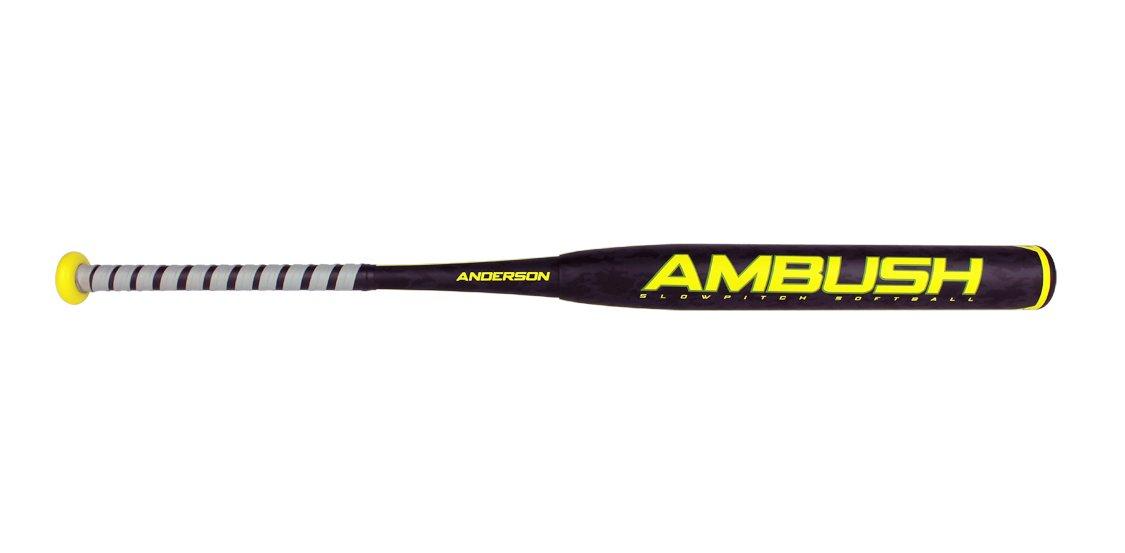 Anderson Bat会社Ambush SlowピッチSoftball Bat B01I288V8Eブラック/グリーン 34\
