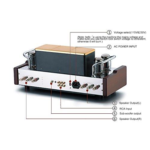original dared vp 99p hifi vacumn tube kt88 amplifier hi end integrated with remote control. Black Bedroom Furniture Sets. Home Design Ideas