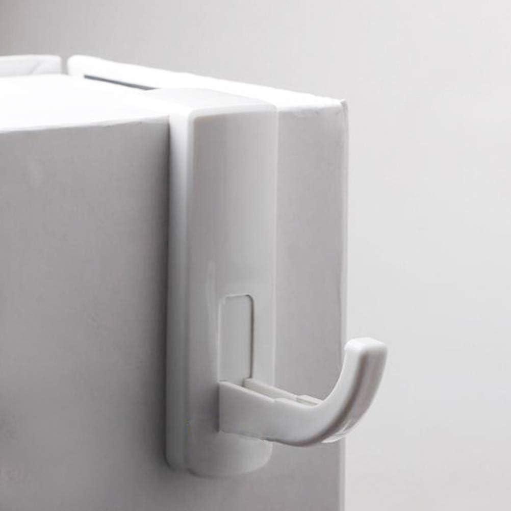 2pcs Headphone Holder Hooks Self-Adhesive Headset Rack Hanger for Internet Cafe Home Black+White