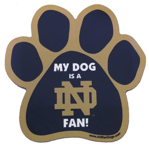 All Star Dogs NCAA Notre Dame Fighting Irish Paw Shaped Magnet