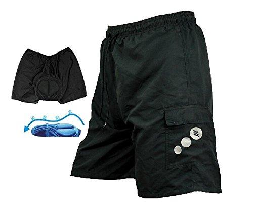 Mens Mountain Loose-fit Biking Shorts Padded Coolmax Cycling MTB Short