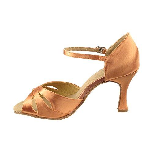 """Gold Taube Schuhe 50 Shades Of Tan Tanzschuhe, Komfort Abendkleid Hochzeit Pumps: Ballroom Schuhe für Latein, Tango, Salsa, Swing, Kunst von Party Party (2,5 """"& 3"""" Heels) 3840 - Dunkelbraun Satin"""