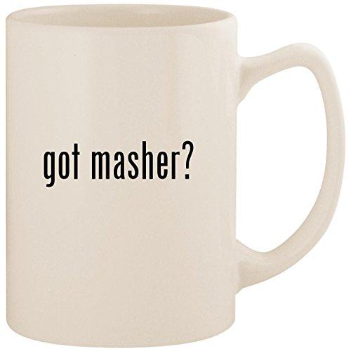 Egg Mashy Masher (got masher? - White 14oz Ceramic Statesman Coffee Mug Cup)