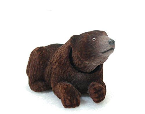 Batty Bargains Fuzzy Dashboard Bobblehead Brown Bear with Car Dash Board Adhesive by