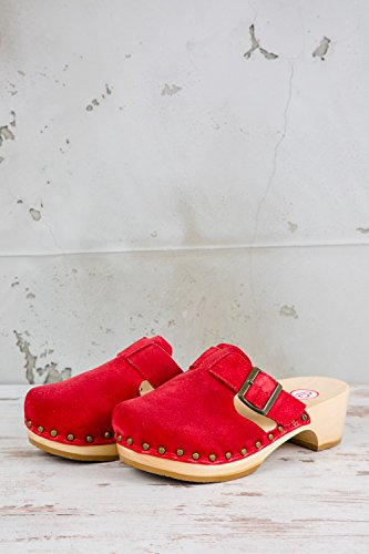 Mules Berkemann pour Femme BKM1 Rouge 221 xEq1wUEpP