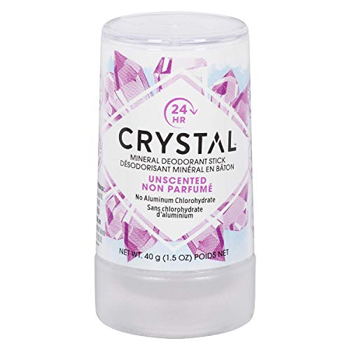 Crystal Mineral Deodorant Travel Stick, Unscented, 1.5 Ounce