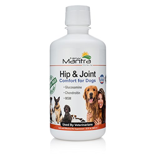 New Mantra Dog Joint Supplement - Dog Pain Relief Medication with Liquid Glucosamine Chondroitin and MSM - 32 Once Liquid ()