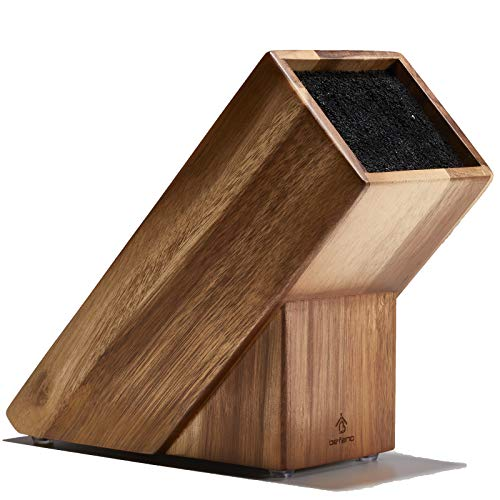 Befano Knife Block without Knives Acacia Wood Kitchen Knife Holder Storage for Counter