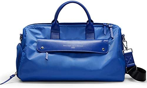 ポータブルゴルフバッグ多機能近距離旅行服収納袋ドライとウェットの分離スポーツジムバッグは、独立したシューズ3色を身に着けています HMMSP (Color : Blue)
