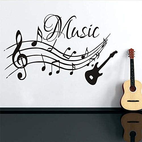 IDECORATE Etiqueta De La Pared del Mapa Mundial,Notas Musicales ...
