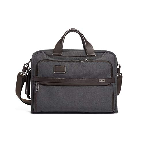3 Way Laptop Case - TUMI - Alpha 3 Slim Three Way Laptop Brief Briefcase - 15 Inch Computer Bag for Men and Women - Anthracite