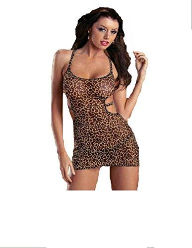 Escante Jeweled Animal Dress 24349 (Brown Jeweled Dress)
