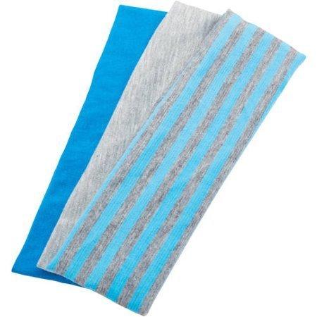 HEADWRAP BLUE GREY STRIPES - Stripes Headwrap