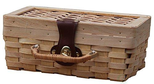 Vintiquewise(TM) Small Woodchip Picnic Basket, Child's Private Picnic Basket