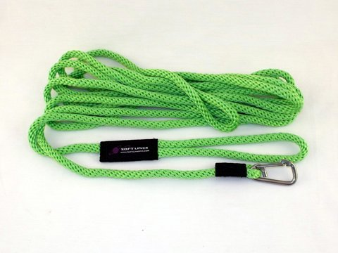 Soft Lines PSW10830LIMEGREEN Floating Dog Swim Snap Leashes 0.5 in. Diameter by 30 Ft. - Lime Green
