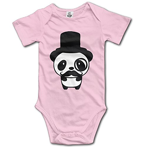Price comparison product image Panda Obesessed With Mustache And Glasses Toddler Baby Onesies Newborn Clothes