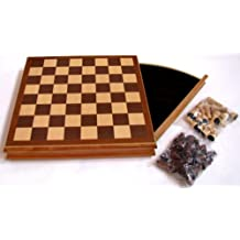 Chess Set - Wooden with Drawer