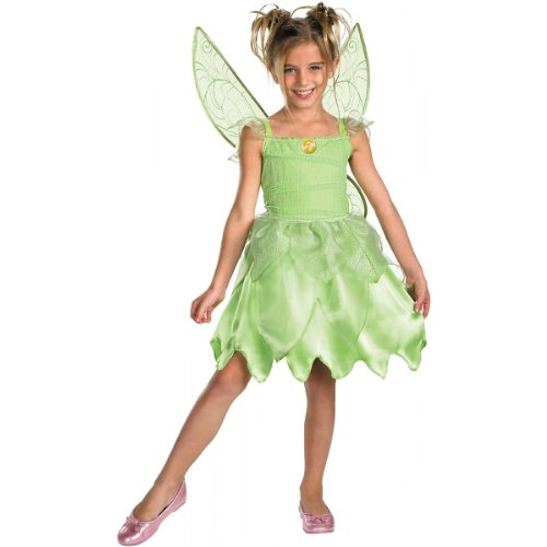 [Disguise Girls Disney Fairies Tink and The Fairy Rescue Classic Costume, One Color, Medium/7-8] (Tinkerbell Fairy Costumes For Women)