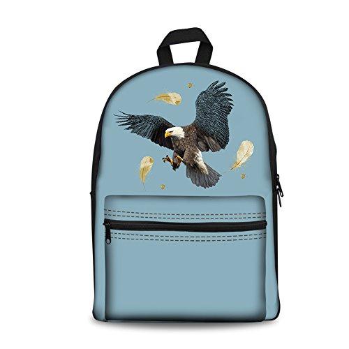 ArtistMixWay Funny Animal Printed School Backpacks Book Bag For Boys - Girls Hawk Backpack For
