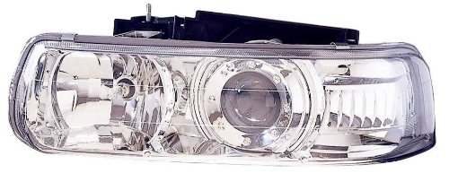 (Depo 335-1119PXAS Chrome Headlight Projector Assembly)