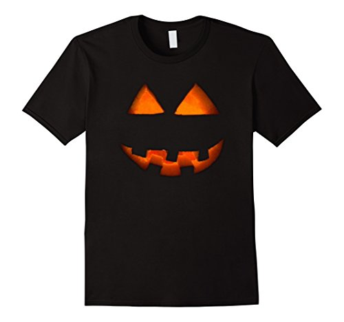 Cult Costume Ideas (Mens JACK O' LANTERN PUMPKIN Face Halloween Costume Spooky Shirts 3XL Black)