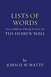 Lists of Words Occurring Frequently in the Hebrew Bible