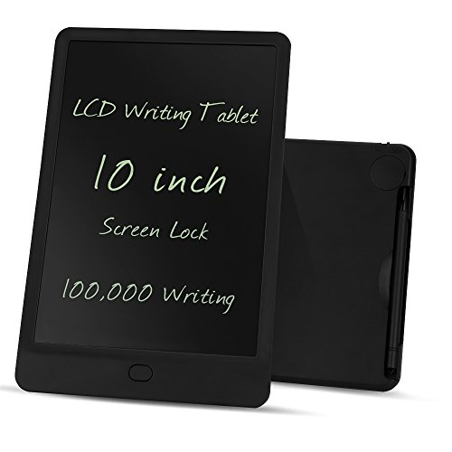 LCD Writing Tablet, 10-inch Screen Lock Electronic Writing Board, Portable Handwriting Notepad with stylus for Kids and Adults at Home, School and Work - Car Scratches Erase To How