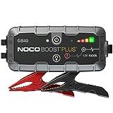 NOCO Boost Plus GB40 arrancador de Litio ultraseguro y portátil de 1000 amperios y 12 voltios para baterías de automóviles con Motores de Gasolina de hasta 6 litros y Motores diésel de hasta 3 litros