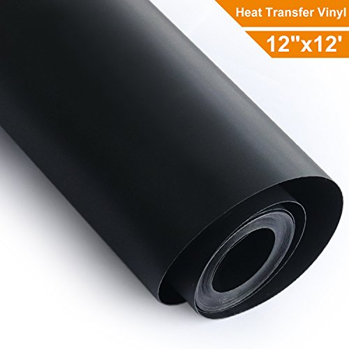 Heat Transfer Vinyl Roll HTV - Black - 12'' x12' by Arhiky