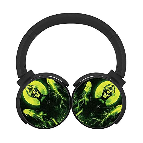 Green Meliora Ghost HiFi Foldable Headset Wireless Bluetooth Over-Ear Stereo Headphones