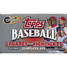 2005 Topps Baseball Traded Updates and Highlights Factory Sealed Set. Loaded with Stars Including Albert Pujols, Alex Rodriguez, Andruw Jones, Ken Griffey, Mike Piazza, Manny Ramirez, David Ortiz, Sammy Sosa, Shawn Green and Lots More!!