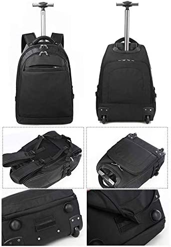 3つ使用トラベルバッグ機能付きリュックサック、ホイール付きスーパー防水トラベル、ローリングトロリーバックパック、手荷物