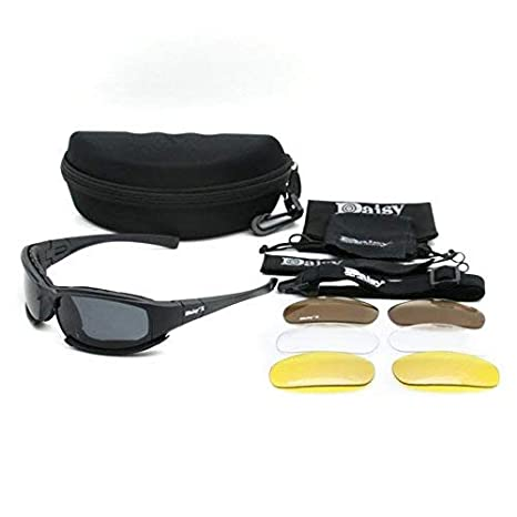 8ca0d120cc4f Image Unavailable. Image not available for. Color  CLKJYF X7 Shooting  Goggles Polarized Cycling Sunglasses with Night Vision ...