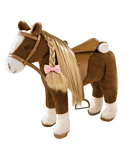 (Gotz Big Plush Combing Horse with Saddle and Bridle Plus Mane and Tail to Brush and Style for 18