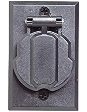 Design House 579722 Parts & Accessories Outdoor Lamp Post Accessory, Black, Replacement Outlet