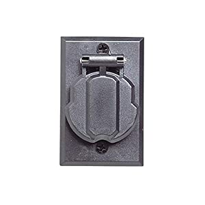 Design House 579722 Outdoor Lamp Post Electrical Outlet, Black