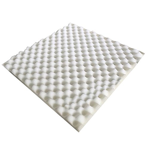 Tangc High-density 50x50x3cm Egg Sound Absorption Soundproof Studio Foam Panel Tile (White) Proof Panel