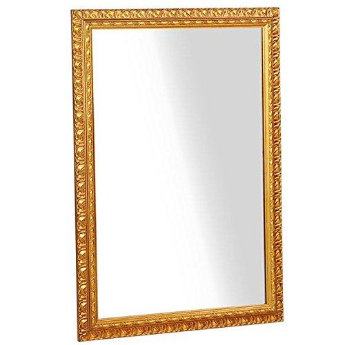arne ウォールミラー 壁掛け 鏡 姿見 アンティーク ワイド 幅約70cm F-003WM6090 ゴールド B00QEY2EDC ゴールド ゴールド
