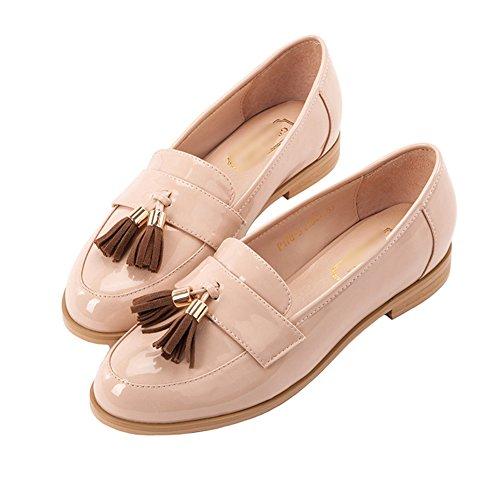 LIANGJUN Low Heels Women's Shoes Flat Ankle Boots, 7 Sizes, 2 Colors Available ( Color : Apricot-EU40=UK6.5=L:250mm ) Apricot-EU35=UK4=L:225mm