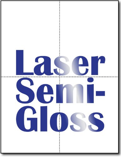 80lb Laser Gloss 4-up Postcards - 250 Sheets / 1000 Postcards by Desktop Publishing Supplies, Inc.