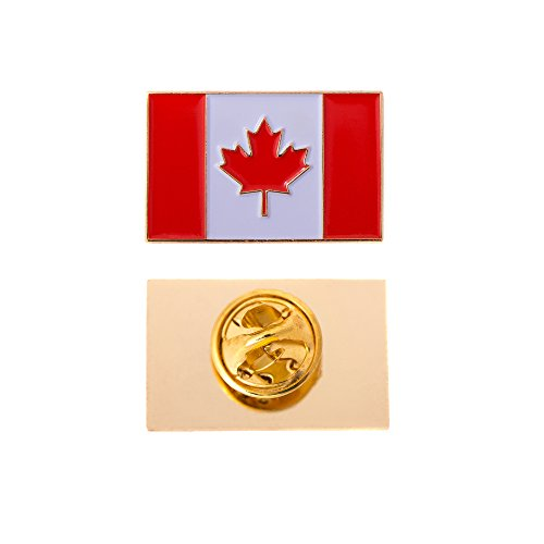 Canada Canadian Country Rectangle Flag Lapel Pin Enamel Made of Metal Souvenir Hat Men Women Patriotic (Rectangle ()