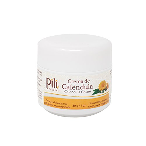 Pili Natural Calendula Cream - Moisturizing Cream for Rough, Dry, or Chapped Skin - 1oz - Crema de Calendula
