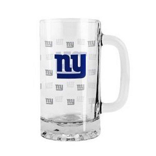 2015 NFL Football Tankard Beer Mug - 16 ounce Glass Mug (Giants)